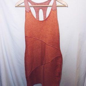 Free people Burnt orange bodycon dress